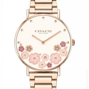 New With Tags Womens Coach Rose Floral Watch 36mm